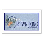 Crown King Rectangle Sticker 50 pk)