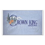 Crown King Rectangle Sticker