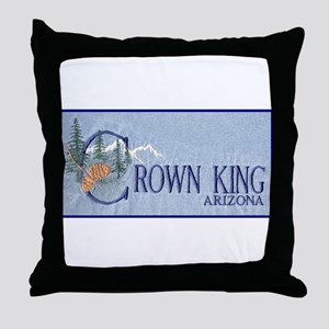 Crown King Throw Pillow