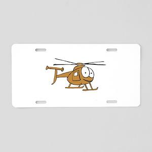 OH-6Tan Aluminum License Plate