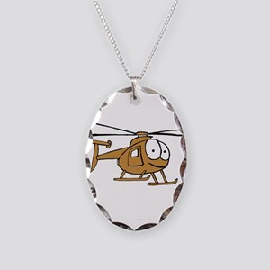 OH-6Tan Necklace Oval Charm