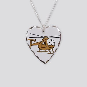 OH-6Tan Necklace Heart Charm