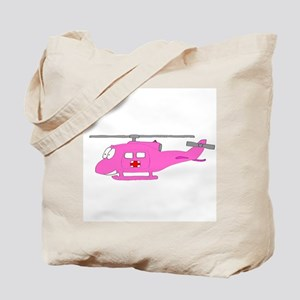 Helicopter UH-1 Pink Tote Bag
