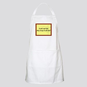 """Look Out Kid"" BBQ Apron"