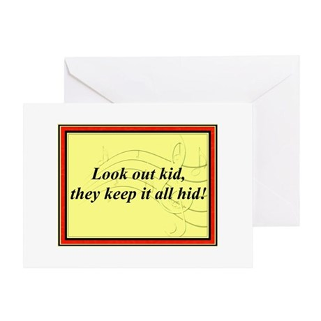 """Look Out Kid"" Greeting Card"