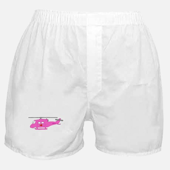 Helicopter UH-1 Pink.PNG Boxer Shorts
