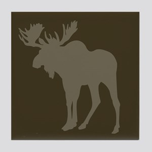 Chocolate Moose Rustic Tile Coaster
