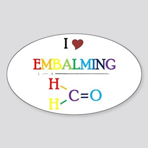 Embalming Oval Sticker