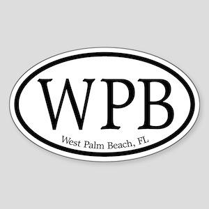 WPB West Palm Beach Oval Oval Sticker