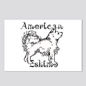 American Eskimo Waggin Postcards (Package of 8)