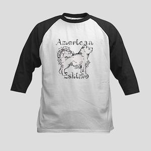 American Eskimo Waggin Kids Baseball Jersey