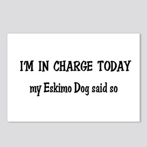 I'm in Charge Eskimo Dog Postcards (Package of 8)