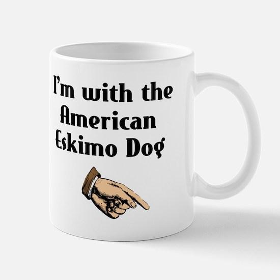 I'm with the American Eskimo Dog Mug