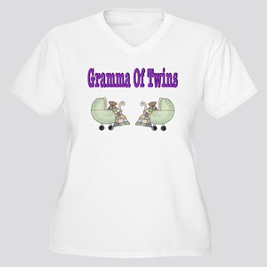 Gramma Of Twins Women's Plus Size V-Neck T-Shirt