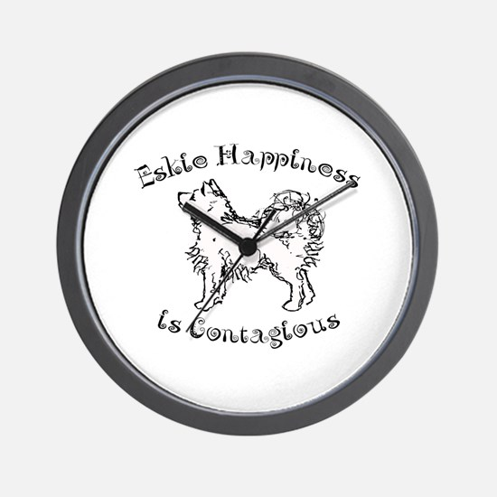 Eskie Happiness Wall Clock