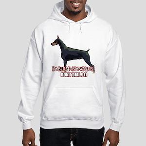 Doberman Owners Don't Dial 91 Hooded Sweatshirt