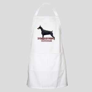 Doberman Owners Don't Dial 91 BBQ Apron
