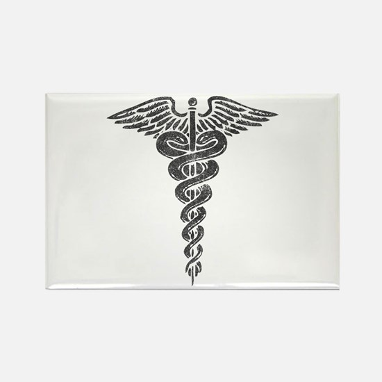 Vintage Caduceus Rectangle Magnet