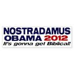 Nostradamus / Obama 2012 Bumper Sticker (50 pk)