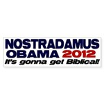 Nostradamus / Obama 2012 Bumper Sticker