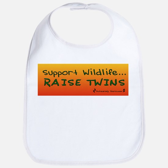 Support Wildlife - Raise Twin Bib