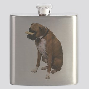 Funny Brindle Boxer Flask