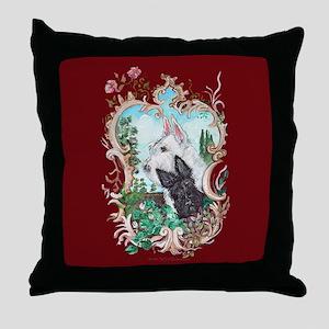 Love My Scotties Throw Pillow