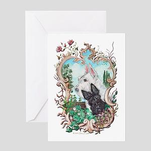 Love My Scotties Greeting Card