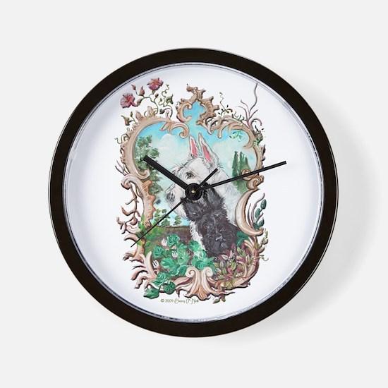 Love My Scotties Wall Clock