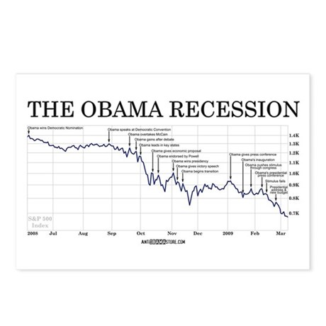 Obama Recession Postcards (Package of 8)