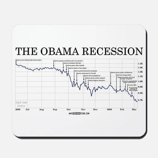 Obama Recession Mousepad