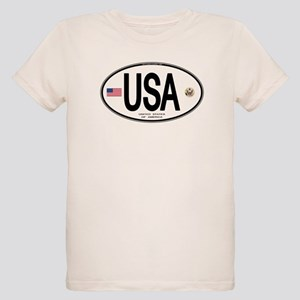 USA Euro-style Country Code Organic Kids T-Shirt