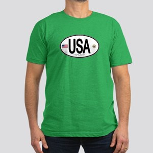 USA Euro-style Country Code Men's Fitted T-Shirt (