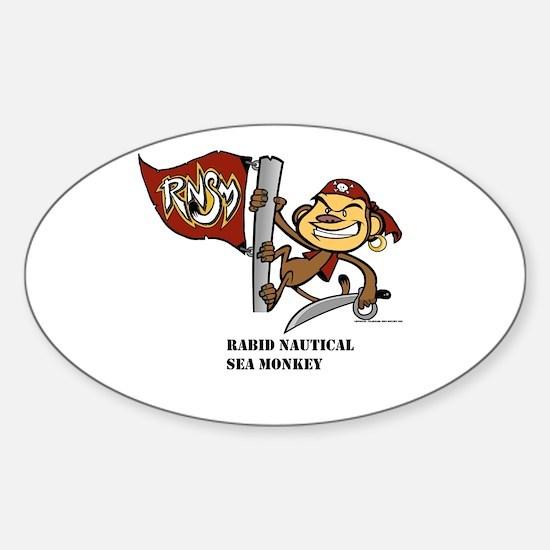 Monkey Oval Decal