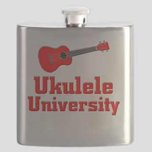 red ukulele Flask