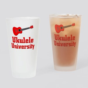 red ukulele Drinking Glass