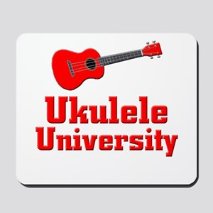 red ukulele Mousepad
