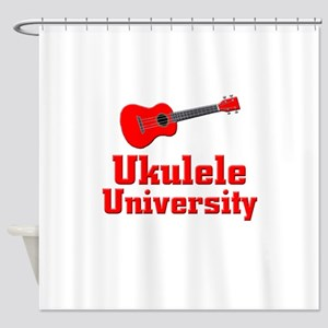 red ukulele Shower Curtain