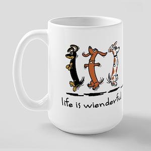 Life Is Wienderful Large Mug