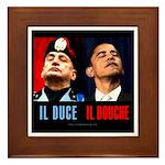 Il Douche anti-Obama Framed Tile