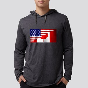 Canadian American Flag Long Sleeve T-Shirt