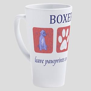 Boxer Dog Paw Prints 17 oz Latte Mug