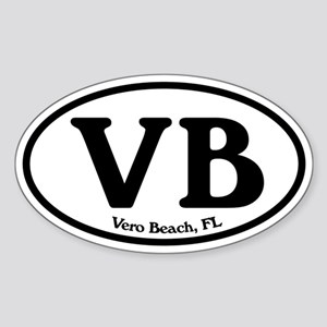 VB Vero Beach Oval Oval Sticker