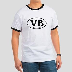 VB Vero Beach Oval Ringer T