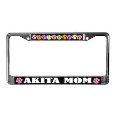 Akita Mom Pet License Plate Frame