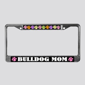 Bulldog Mom Pet License Plate Frame