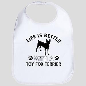 Toy Fox terrier dog breed designs Baby Bib