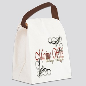 Swirl Marine Wife Canvas Lunch Bag