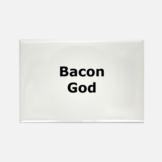 Bacon God Rectangle Magnet
