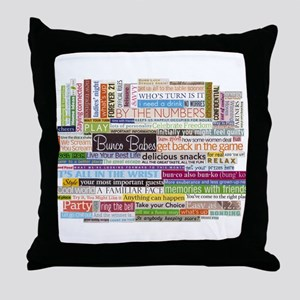 Bunco Throw Pillow